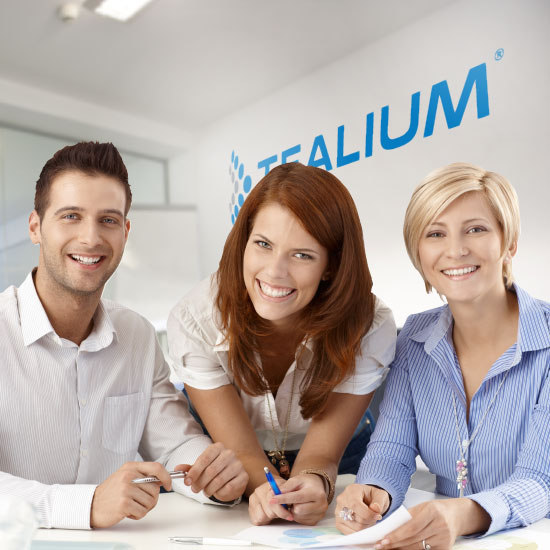 Three co-workers at Tealium