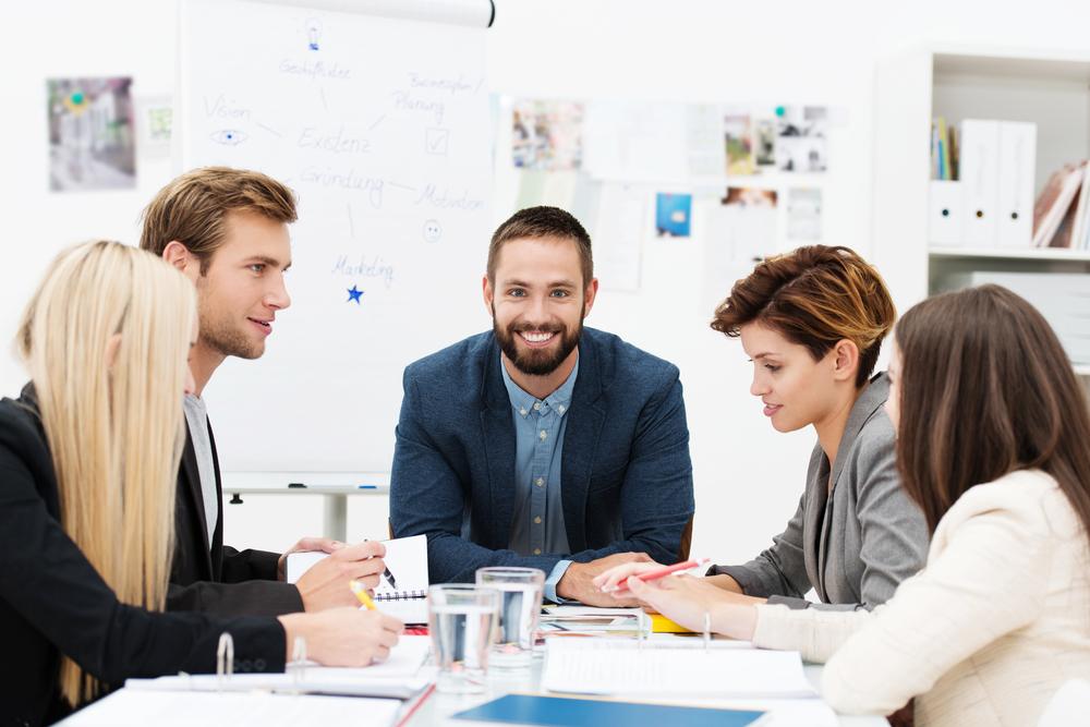 Manager in einem Meeting