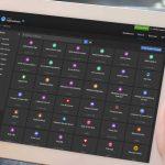 Tablet mit AudienceStream-Benutzeroberfläche