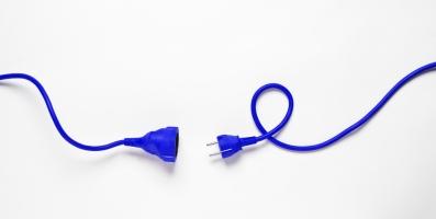 Cable de extensión azul