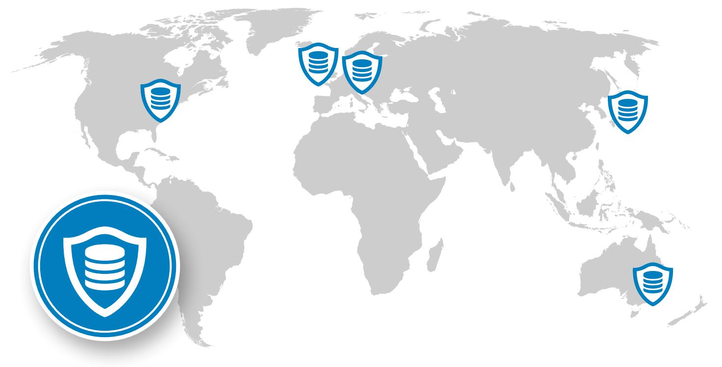 Centres de données Tealium à travers le monde