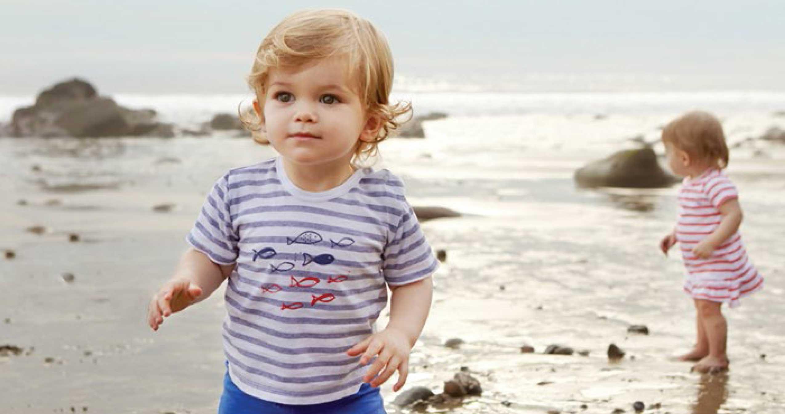 Little children at the beach