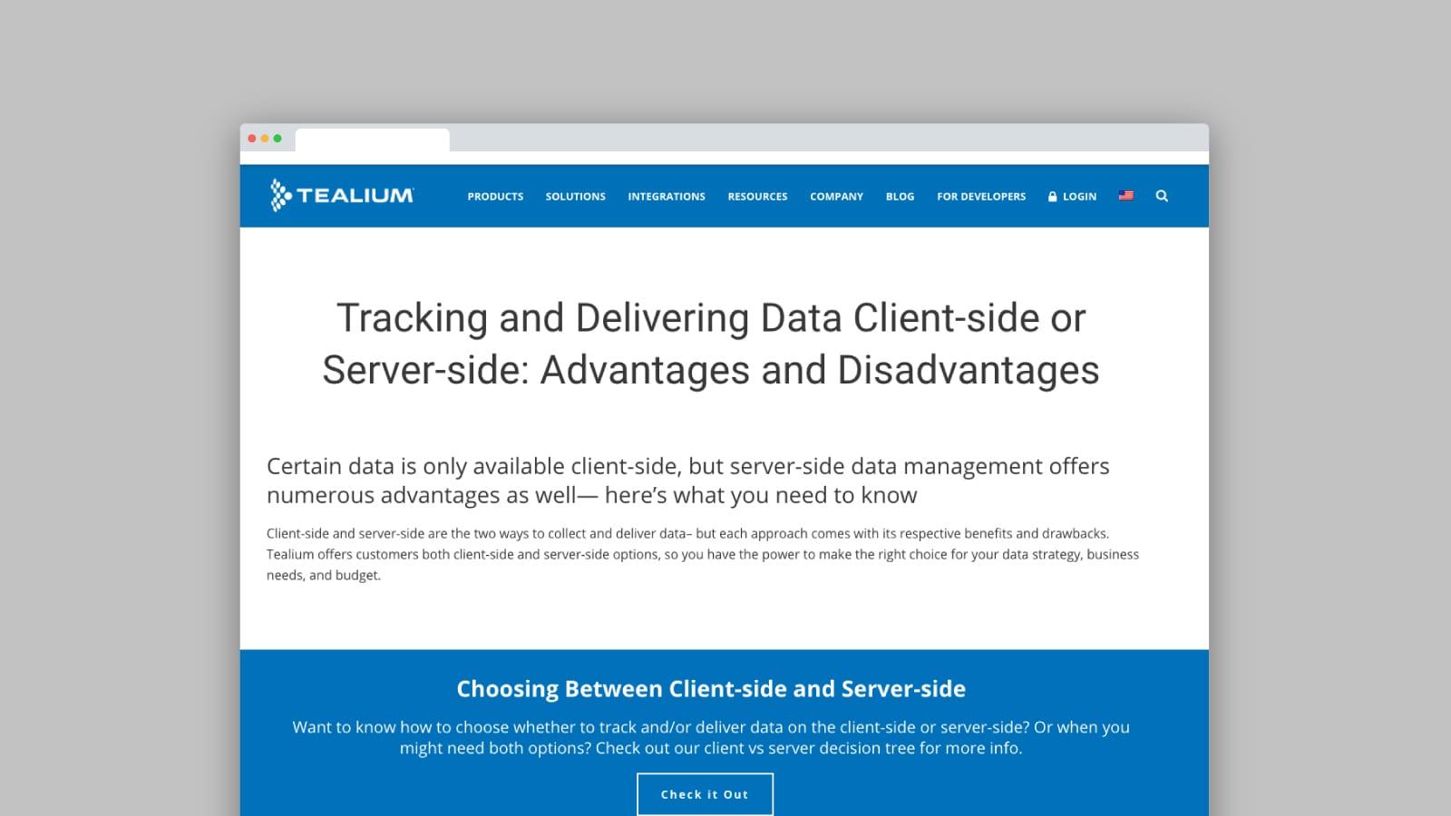 Client vs Server-side Tracking - Tealium