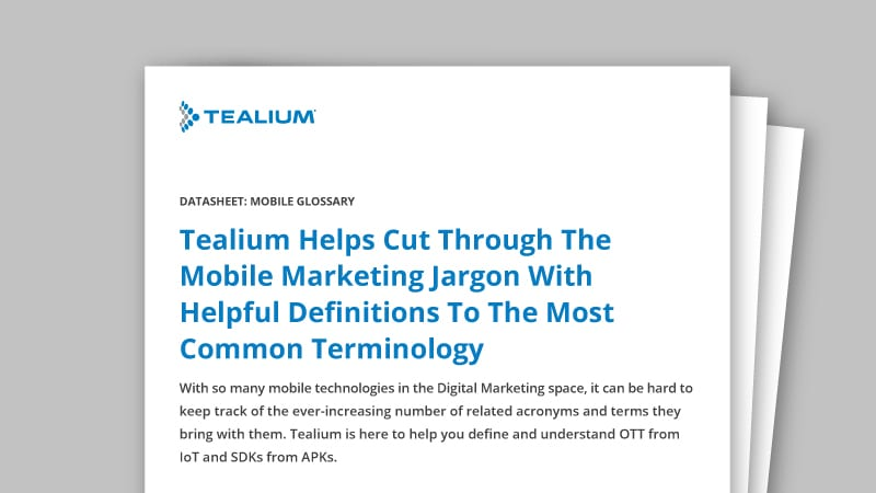 Mobile Glossary - Tealium