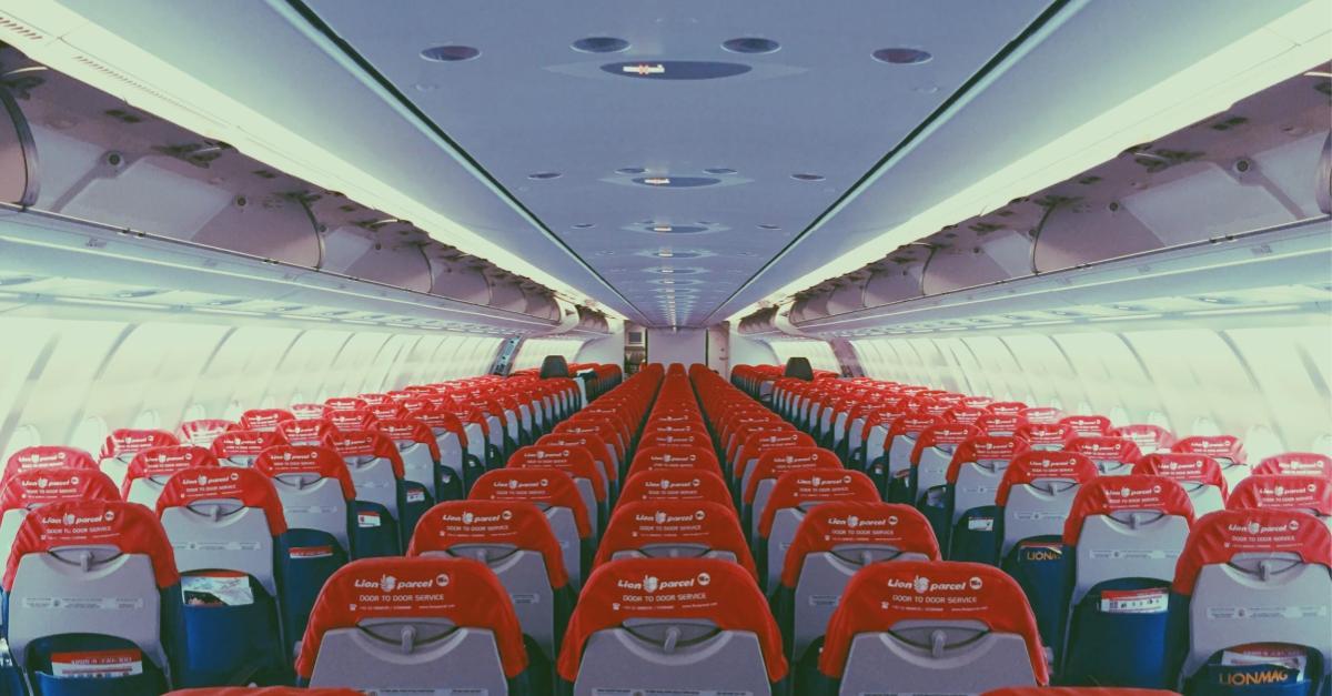 An empty plane